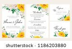 elegant floral wedding... | Shutterstock .eps vector #1186203880