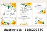 elegant floral wedding...   Shutterstock .eps vector #1186203880