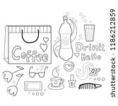 hot and cold drink girlish cafe ... | Shutterstock .eps vector #1186212859