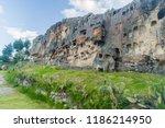 pre inca necropolis with... | Shutterstock . vector #1186214950