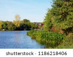 autumn in brittany  in the city ... | Shutterstock . vector #1186218406