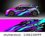 car decal wrap design vector.... | Shutterstock .eps vector #1186218499