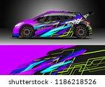 car decal wrap design vector.... | Shutterstock .eps vector #1186218526