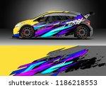 car decal wrap design vector....   Shutterstock .eps vector #1186218553