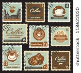 set of stamps on the theme of... | Shutterstock .eps vector #118622020