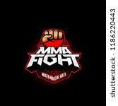 mma fight logo. mixed martial... | Shutterstock .eps vector #1186220443
