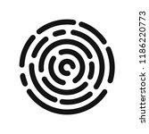 fingerprint scanning icon ... | Shutterstock .eps vector #1186220773