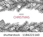 merry christmas'day backgroungs ... | Shutterstock .eps vector #1186221160