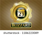gold emblem or badge with...   Shutterstock .eps vector #1186223089