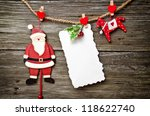 christmas white card with copy... | Shutterstock . vector #118622740