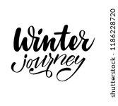 winter journey. isolated vector ... | Shutterstock .eps vector #1186228720