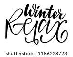 winter relax. isolated vector ... | Shutterstock .eps vector #1186228723