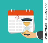 date and time icon. alarm and... | Shutterstock .eps vector #1186229770