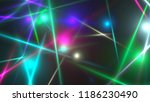 bright different chaotic lights ...   Shutterstock . vector #1186230490