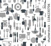 pattern of the kitchen utensil  ... | Shutterstock .eps vector #1186230706