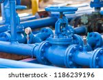 valves at gas plant | Shutterstock . vector #1186239196