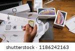 paris  france   september 21 ... | Shutterstock . vector #1186242163