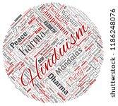 vector conceptual hinduism ... | Shutterstock .eps vector #1186248076