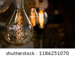 old christmas light in the... | Shutterstock . vector #1186251070