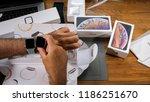 paris  france   september 21 ... | Shutterstock . vector #1186251670