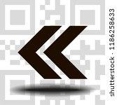 undo arrow icon  motion icon....   Shutterstock .eps vector #1186258633
