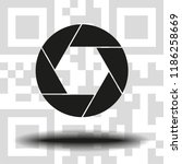 aperture  camera lens symbol | Shutterstock .eps vector #1186258669