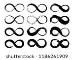 infinity symbols set hand... | Shutterstock .eps vector #1186261909