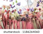 autumn floral arrangement | Shutterstock . vector #1186264060