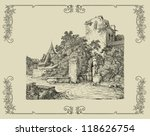 old village illustration | Shutterstock . vector #118626754