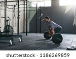 deadlift. sports man lifting... | Shutterstock . vector #1186269859