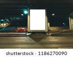 blank poster display... | Shutterstock . vector #1186270090