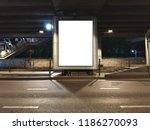 blank poster display... | Shutterstock . vector #1186270093