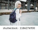 Anime Style Blonde Girl With...