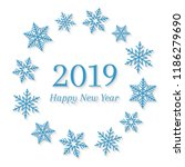2019 and happy new year concept ... | Shutterstock .eps vector #1186279690