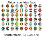 set of round buttons with flags ... | Shutterstock .eps vector #118628470
