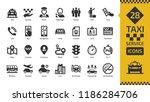 vector taxi cab car service... | Shutterstock .eps vector #1186284706