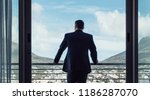 rear view of businessman... | Shutterstock . vector #1186287070
