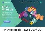 online shop landing page... | Shutterstock .eps vector #1186287406