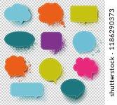retro colorful speech bubble... | Shutterstock . vector #1186290373