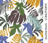 seamless vector pattern with... | Shutterstock .eps vector #1186292893