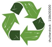 recycle  symbol in grunge style | Shutterstock .eps vector #118630300