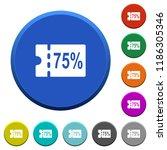 75 percent discount coupon...   Shutterstock .eps vector #1186305346