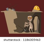 mummy and coffin vector... | Shutterstock .eps vector #1186305463