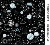 space galaxy constellation... | Shutterstock .eps vector #1186308883