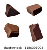 close up of chocolate pieces... | Shutterstock . vector #1186309003