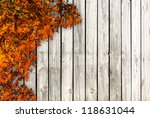 white board with autumn colored ... | Shutterstock . vector #118631044