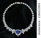 sapphire stone with diamond... | Shutterstock . vector #1186311853