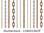 collection of  various rope and ... | Shutterstock . vector #1186313629
