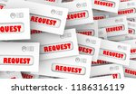 requests asking for help... | Shutterstock . vector #1186316119