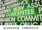 guarantee promise vow pledge... | Shutterstock . vector #1186316176